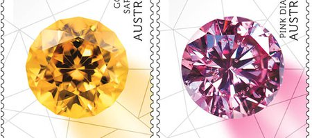 Australia Post Releases Eye-Catching Series of Gem-Themed Stamps